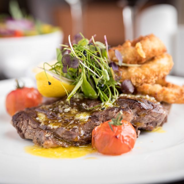 Steak meal at Clayton Hotels